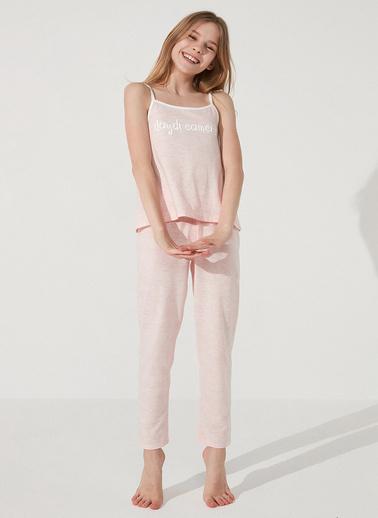 Penti Pembe Melanj Teen Daydreamers Ss 2Li Pijama Takımı Pembe
